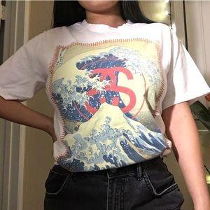 Stussy Great Wave Off Kanagawa by Hokusai T-shirt